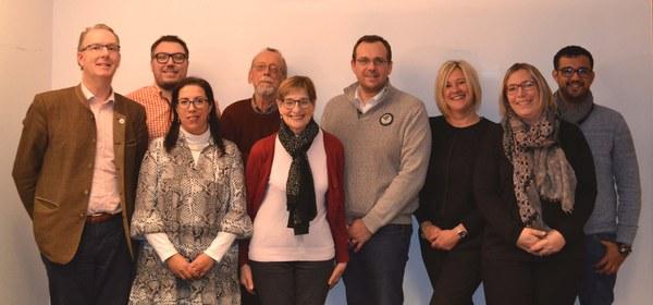 Les 9 membres du Conseil de l'Action Sociale